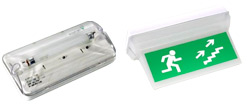 Emergency lighting fittings with a high IP degree